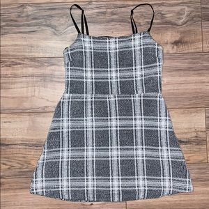 Urban outfitters plaid mini skater dress